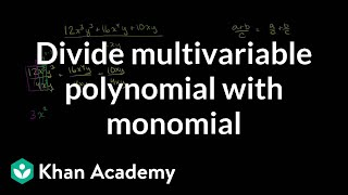 Dividing multivariable polynomial with monomial