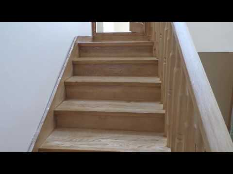 Тонировка лестницы  с последующим нанесением лака. Часть 3.