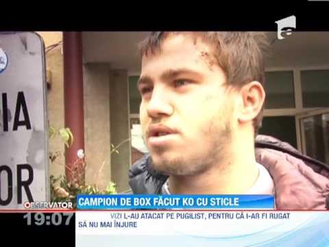 Un campion la box a fost snopit in bataie, in fata unui bar din Deva!