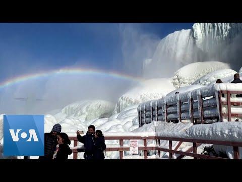 Winter Storm Leaves Niagara Falls Encrusted in Ice