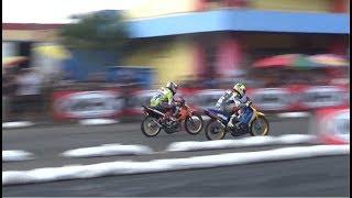 Underbone 125 z bikinan mekanik drag Yusron Alifkan vs  Poter Tarung di Motoprix Purwokerto 2018
