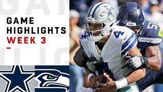 Cowboys vs. Seahawks Week 3 Highlights | NFL 2018 | Kholo.pk