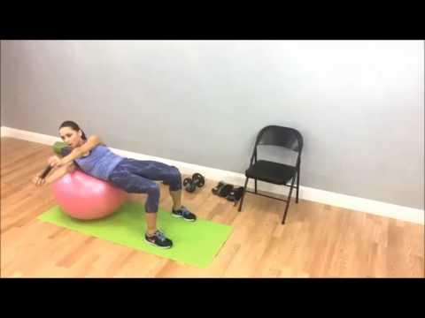 Stability Ball Dumbbell Twist