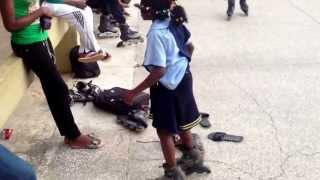 Lil Girl sings and dances Kukere on Skates