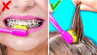 UNEXPECTED LIFE HACKS WITH TOOTHBRUSH & TOOTHPASTE    Useful Everyday Tips