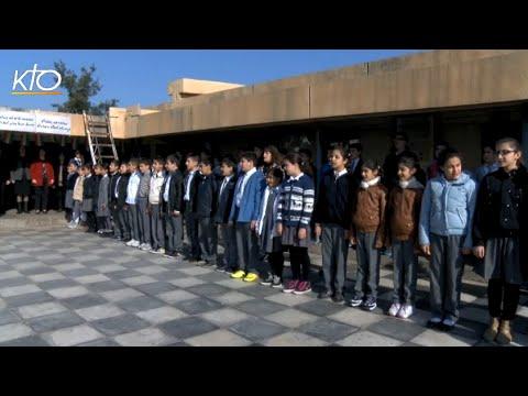 Erbil : dernière visite dans un camp et une école
