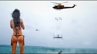 HELICOPTER TRAMPOLINE!!