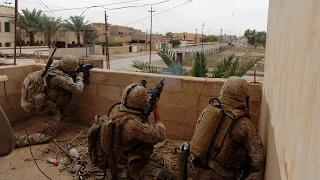 US Marines In Combat During Operation In Ramadi, Iraq War 2006
