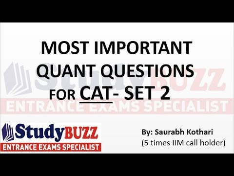 Important quant questions for CAT/ MBA