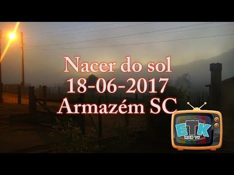 Nascer do Sol em Armazém SC 18-06-2017