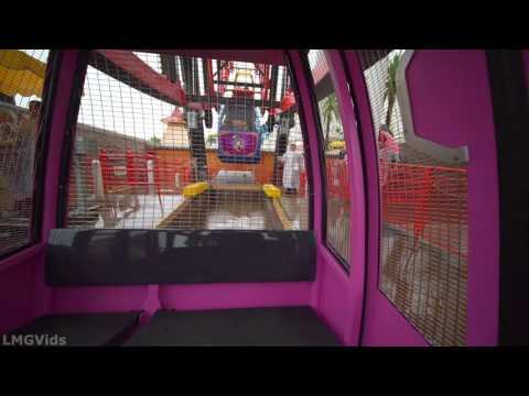 [4K] Mickey's Fun Wheel ride (Swinging) In The Rain! (Swinging Ferris Wheel Attraction): DCA POV