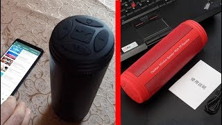 Best Waterproof Portable Bluetooth Speaker with Loud Sound, FM, USB and microphone