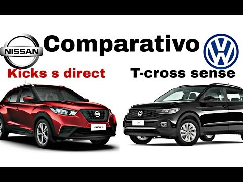 Comparativo! Volkswagen t-cross sense x nissan kicks s direct