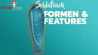 Formen & Features am Schlafsack erklärt! - Schulungsvideo von Grüezi bag