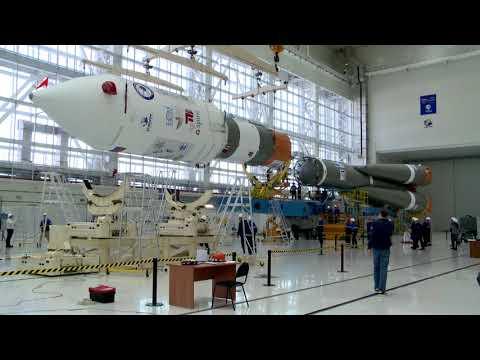 Общая сборка РКН «Союз-2.1а» с КА «Канопус-В» № 3 и 4
