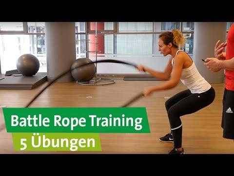 Battle Rope Training - 5 Übungen für das perfekte Workout