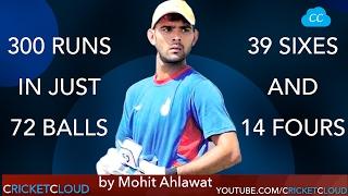 300 Individual Score in a T20 Match - Mohit Ahlawat Becomes Worlds most Dangerous Batsman !!
