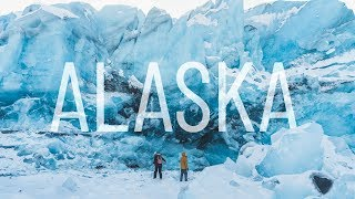 Coolest Thing WE'VE EVER DONE - Hidden Glacier Across a Frozen Lake!! (Anchorage, Alaska)