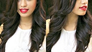 LOOSE OUTWARDS WAVES WITH STRAIGHTENER AND CURLING IRON | DEBASREE BANERJEE