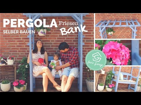 Pergola Bank selber bauen - DIY Anleitung - How to - Holzrahmen - Friesenbank