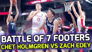 """7'1 Chet Holmgren & Team USA get TESTED By 7'3"""" Zach Edey & Team Canada! 7 FOOTERS Get Physical! 💪"""