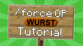 Minecraft - How-to Force OP on 1.8.x with the Wurst Hacked Client - WiZARD HAX