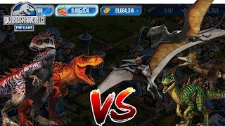 T-Rex & Indominus Rex Vs Dino Army! | Cenozoic Event! || Jurassic World - The Game