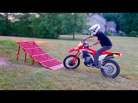 2019 CRF450L = STREET LEGAL DIRT BIKE! Freestyle Ramp Jump