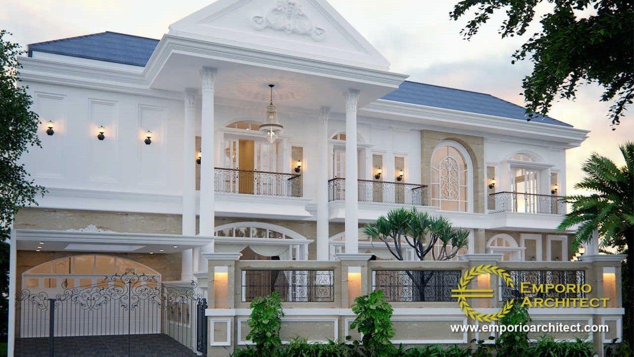 Video 3D Desain Rumah Classic 2 Lantai Ibu Endang di Cibubur, Jakarta