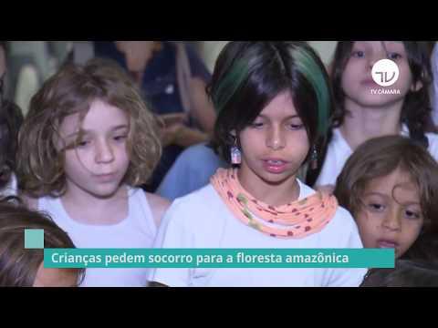 Crianças pedem socorro para a floresta amazônica - 02/09/19