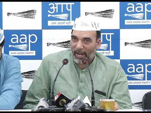 AAP Delhi Convenor Gopal Rai expose BJP & Cong lies on full statehood for Delhi