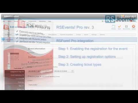 RSEvents!Pro - Register to events with RSForm!Pro