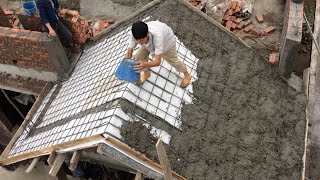 You have to see what these clever people are doing. Roof concrete technique.