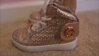 Michael Kors Gold Hi-Top Kids Shoe Unboxing Review