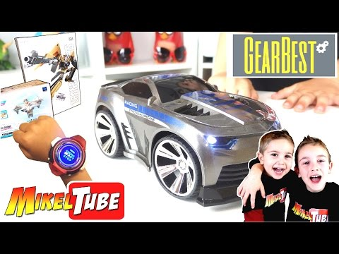 Unboxing GearBest Smart Watch voice car , Transformers y Mini FPV drone Cx 10