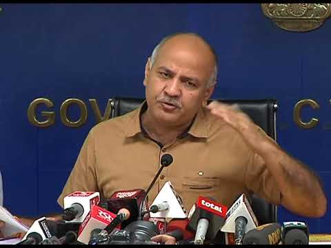 Dy CM Manish Sisodia Briefs Media on the decisions taken by the Cabinet Minister