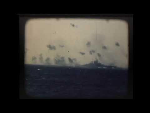 Kamikaze Strike on Battleship USS Tennessee (1945)