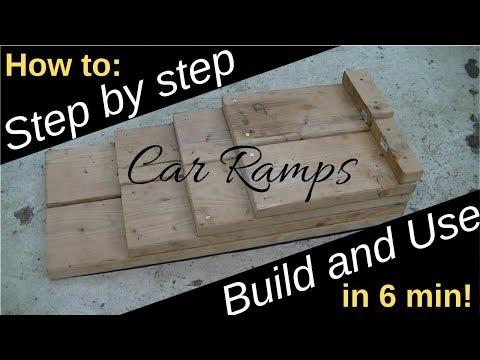 Great DIY idea for Cars! Homemade Car Ramps