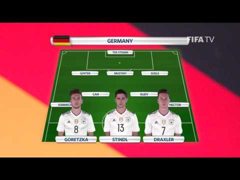 Match 8: Germany v Chile -Team Lineups - FIFA Confederations Cup 2017