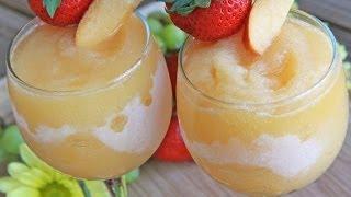 Peach Moscato Wine Slushies ~ Make these asap!!