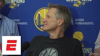 Steve Kerr on Game 2 against Rockets: 'They kicked our ass. Simple enough' | ESPN - Video Youtube