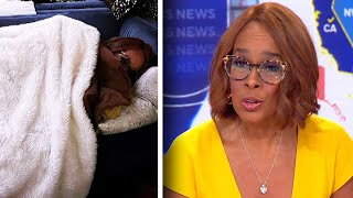 Anchor Gayle King Slept on the Couch In Her Yellow Dress