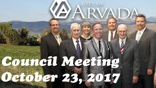 Preview image of City Council Meeting - October 23, 2017