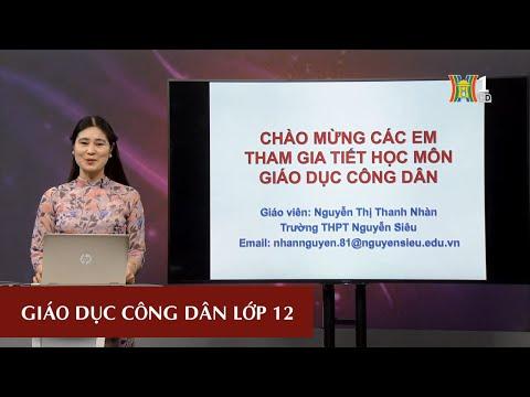 MÔN GDCD - LỚP 12 | CÔNG DÂN VỚI CÁC QUYỀN DÂN CHỦ