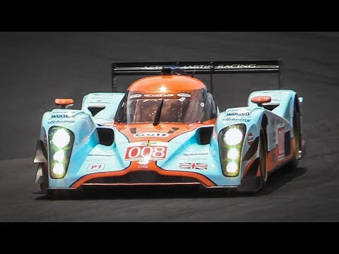 2009 Lola-Aston Martin B09/60 LMP1 in action with its lovely V12 sound!