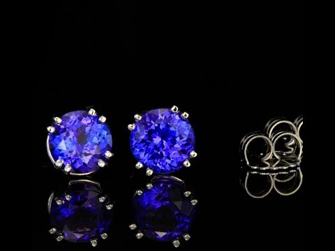 Extra Large and Exceptional Tanzanite Earrings 8.73 Carats