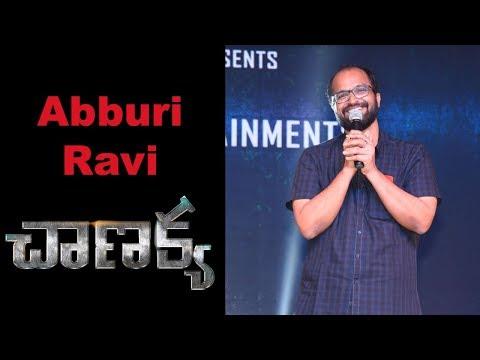 Writer Abburi Ravi at Chanakya Movie Pre Release Event