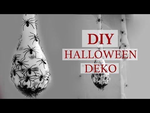 DIY I Halloween Spinnen Deko
