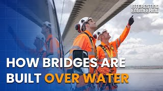 How bridges are built over water?