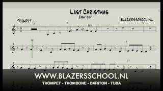 Last Christmas - Trumpet - Easy Key
